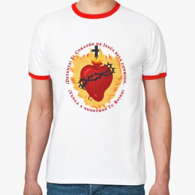 Футболка Ringer-T Detente - Sacred Heart