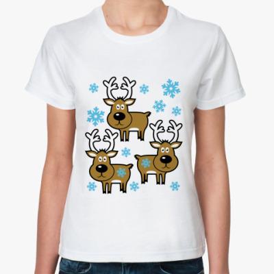 Классическая футболка Олени