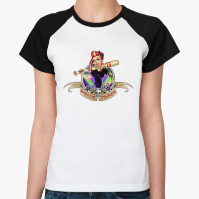 Женская футболка реглан   WT LOGO