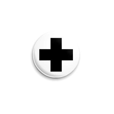 Значок 25мм  «Черный Крест»