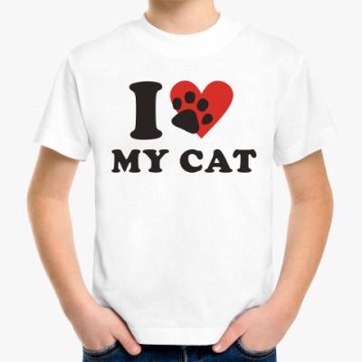 Детская футболка Я люблю свою кошку