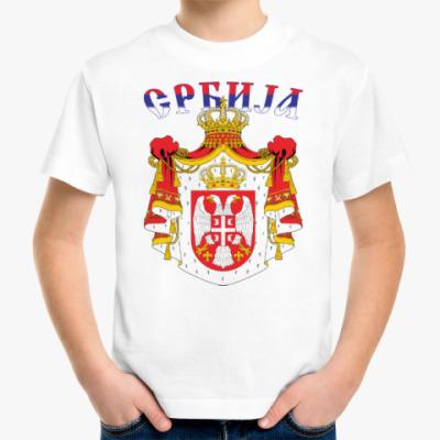 Детская футболка Большой герб Сербии