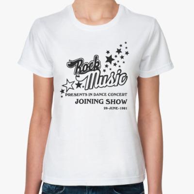 Классическая футболка Rock music