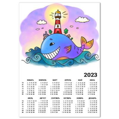 Календарь «Кит и маяк»