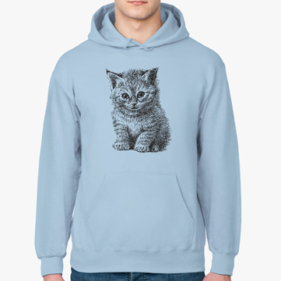 Толстовка худи Кот. Кошка. Cat. Kitty.