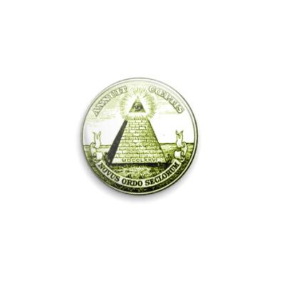Значок 25мм  Dollar
