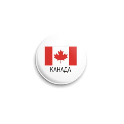Значок 25мм Канада