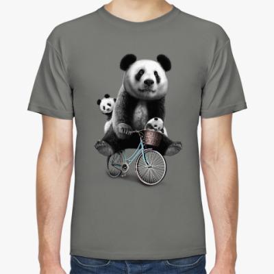 Футболка Панды на велосипеде