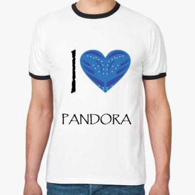 Футболка Ringer-T I love Pandora