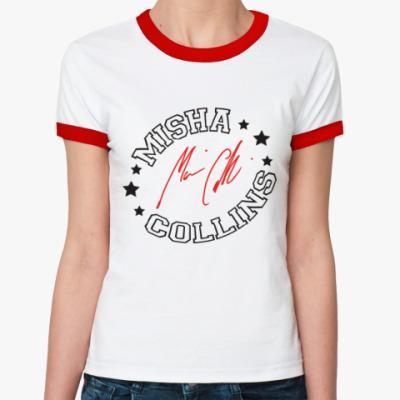 Женская футболка Ringer-T Миша Коллинз - Supernatural