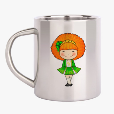 Кружка металлическая Ирландская девочка