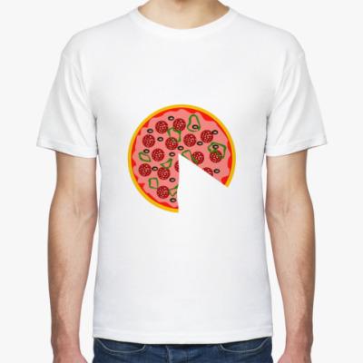 Футболка Большая половина пиццы