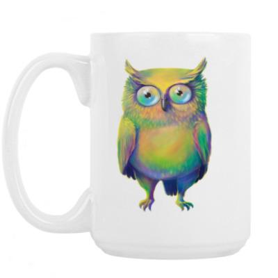 Кружка Цветная сова