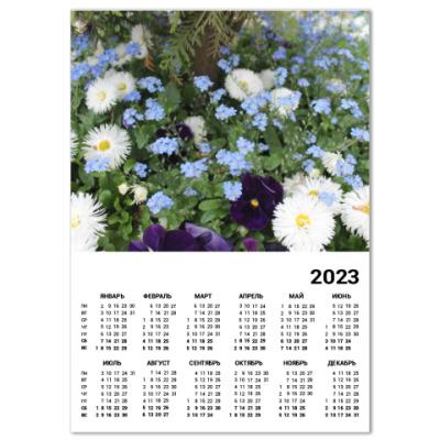 Календарь Цветочный ковёр