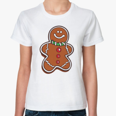 Классическая футболка Новогоднее печенье Пряня