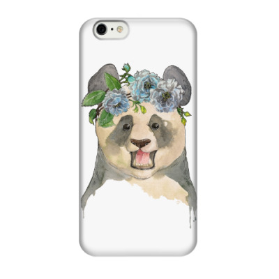 Чехол для iPhone 6/6s Панда в цветах