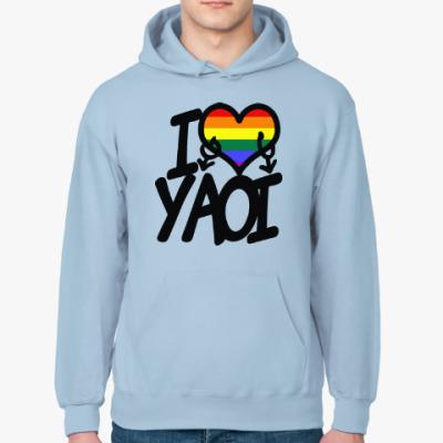 Толстовка худи I love yaoi (Boys' Love)