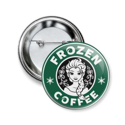 Значок 50мм Frozen coffee
