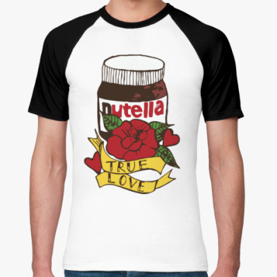 Футболка реглан Nutella Нутелла Шоколад