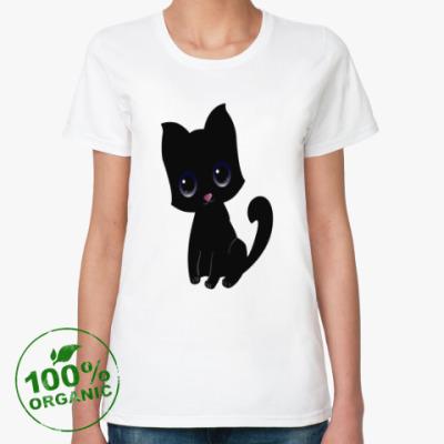 Женская футболка из органик-хлопка Kitten (котёнок)