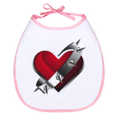 Слюнявчик Сердце