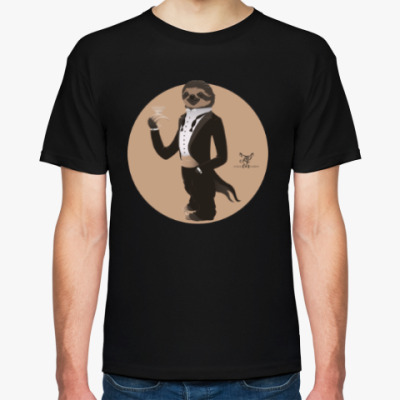Футболка Animal Fashion: S is for Sloth in Smoking