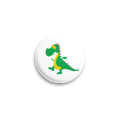 Значок 25мм Весёлый дракончик