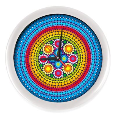 Настенные часы Узор в индийском стиле