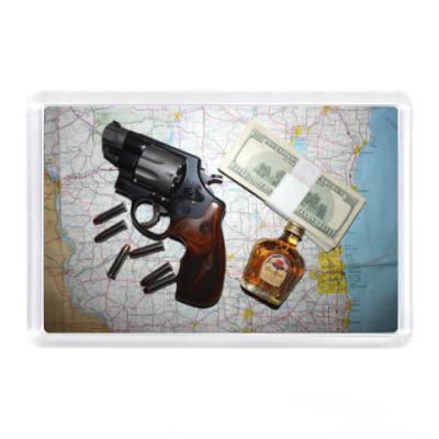 Магнит Пистолет, виски