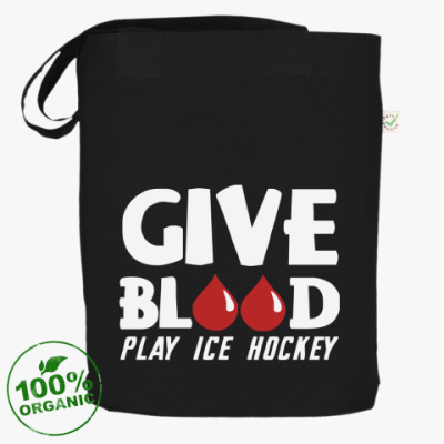 Сумка Чёрная сумка Кровь и хоккей