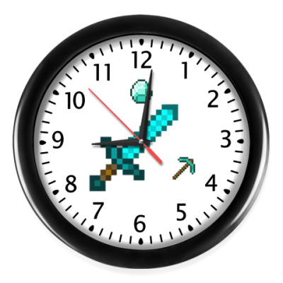 Настенные часы В стиле вещей minecraft