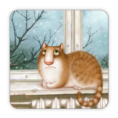 Костер (подставка под кружку) Подставка под кружку Кошка