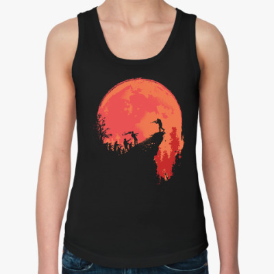 Женская майка Кровавая луна