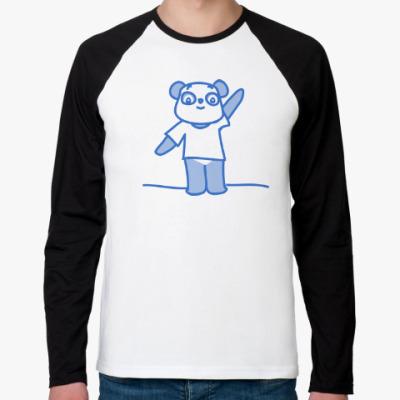 Футболка реглан с длинным рукавом Крутая Панда