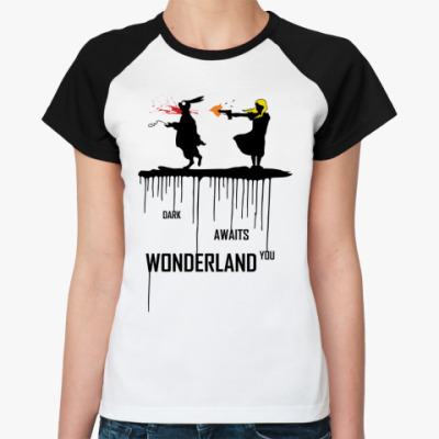 Женская футболка реглан Dark Wonderland