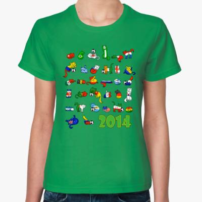 Женская футболка FIFA 2014