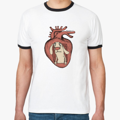 Футболка Ringer-T Кролик в сердце