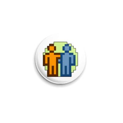 Значок 25мм  Дружба. ICQ-статус.