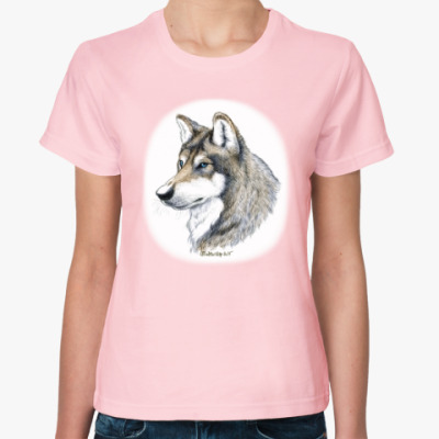 Женская футболка 'Лесной волк'