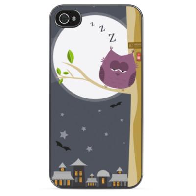 Чехол для iPhone Сова спит — служба идет