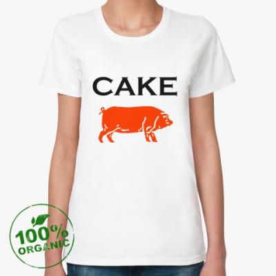 Женская футболка из органик-хлопка Cake