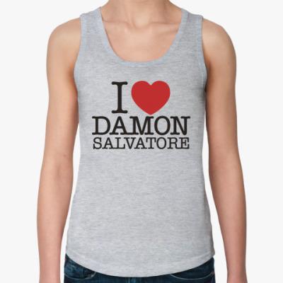 Женская майка I Love Damon