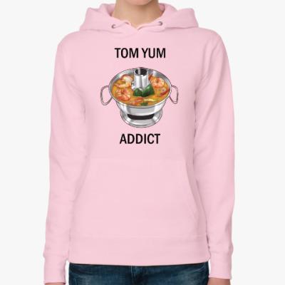 Женская толстовка худи Суп Том ям - самый вкусный символ Таиланда!