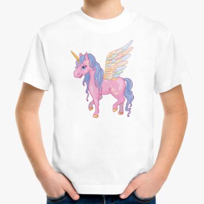 Детская футболка Красивый Единорог, Пегас