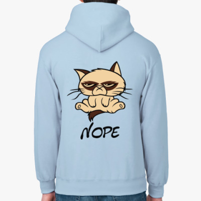 Толстовка худи Недовольный кот ( Grumpy cat )