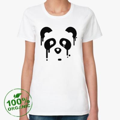 Женская футболка из органик-хлопка Унылая панда