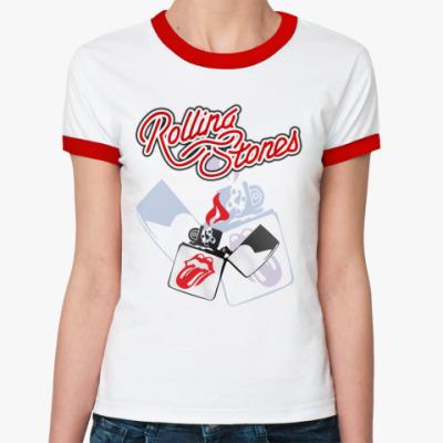 Женская футболка Ringer-T Rolling Stones