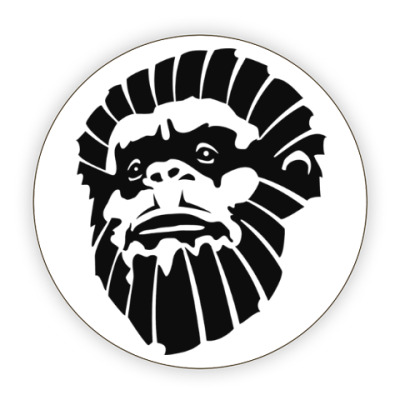 Костер (подставка под кружку) Лицо обезьяны