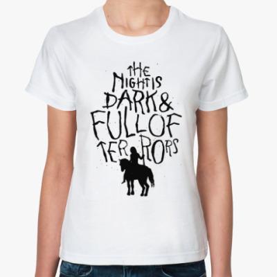 Классическая футболка Игра престолов.Белые ходоки