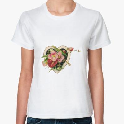 Классическая футболка   ВИНТАЖ СЕРДЦА